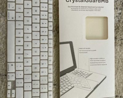 White keyboard cover :for MacBook Pro 15 inch, MacBook Pro 13 inch, MacBook 12 inch, MacBook air/pro 13 inch and 15 inch