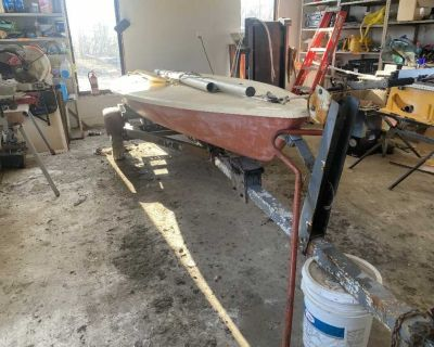 Laser sail boat and trailer