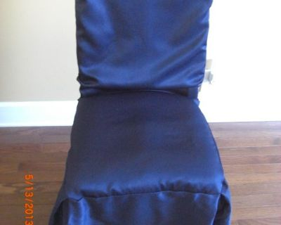 4) Chair Cover Covers Blue fits Dining and Parson chairs