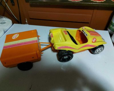 70s barbie dune buggy and fold out camper