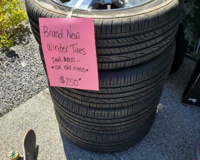 Set of 4 Hankook 235/50R19 Winter Tires with GMC Rims