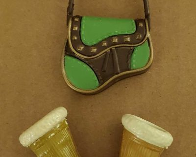 Doll boots and purse (flat foot)
