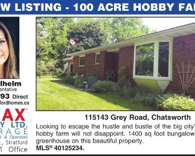 NEW LISTING - 100 ACRE HOBBY F...