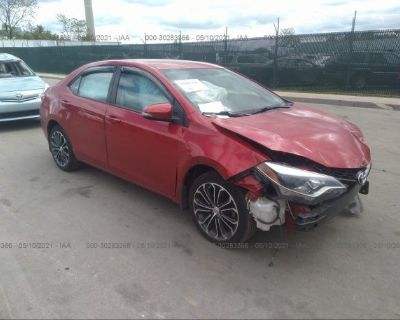 Salvage Red 2014 Toyota Corolla