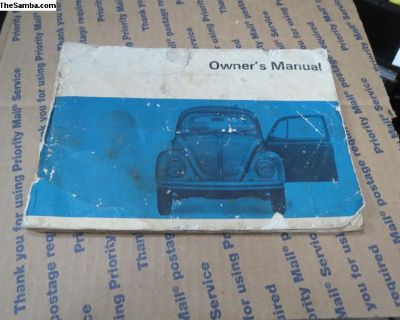 1968 T1 Owners Manual