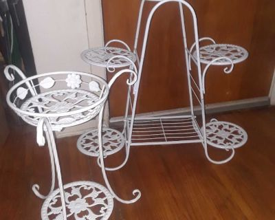 New 2pc Plant Stands Set