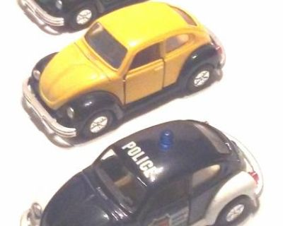 VW Beetle, 1:36 Scale Diecast Toy - Set of 3