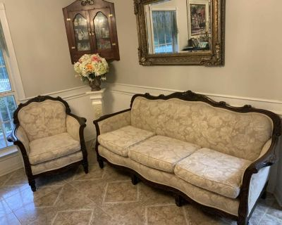 Antique Sofa (Couch) and Chair