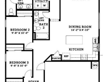 4 bed+ 2 bath brand new Coolidge home for rent from 9/1/2021