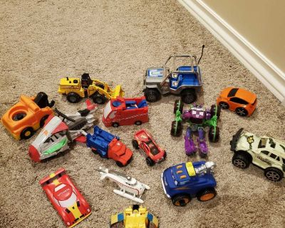 Various vehicle toys