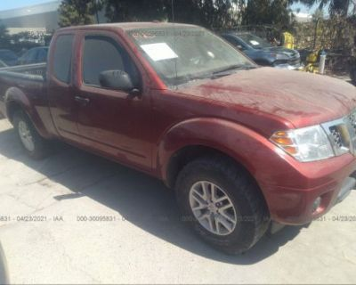 Salvage Red 2014 Nissan Frontier