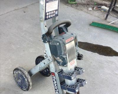Bosch Electric Breaker w/Makinex Breaker Trolley