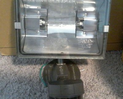 Used Working Heath Zenith Professional Motion Sensor Quartz Security Light