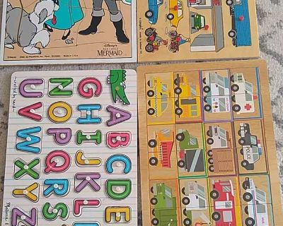 4 Wooden Puzzles