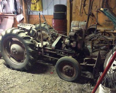 Antique garden tractor