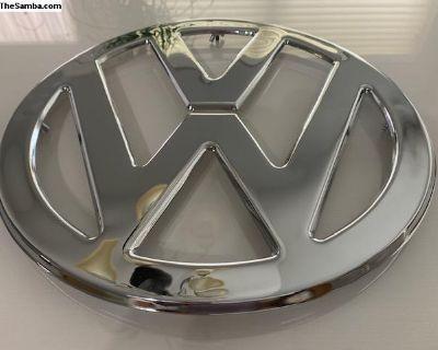 Chromed Front Emblem/Logo VW Split Window Bus