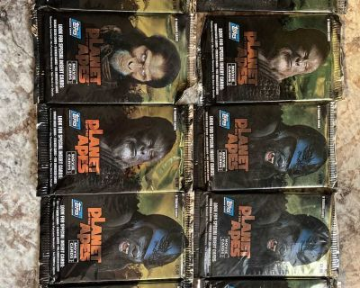 2001 Planet Of The Planet of the Apes Movie Trading Cards 10 Unopened Packs