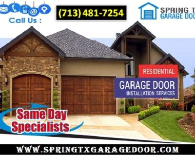 24/7 Residential Garage Door Installation ($25.95) Spring Houston, 77379 TX