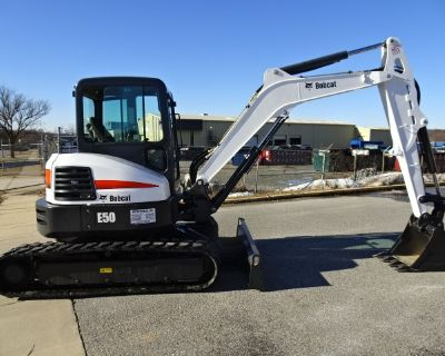 "2017 Bobcat E50 Compact Excavator - Long Arm (12'11"" Dig Depth) - 49.8 HP Bobcat Diesel Engine with Auto Idle - Only 1675 Hours - Hydraulic X-Change Attachment Mounting System -  HVAC - Deluxe Panel with Keyless Ignition & Deluxe Cloth Suspension Seat"