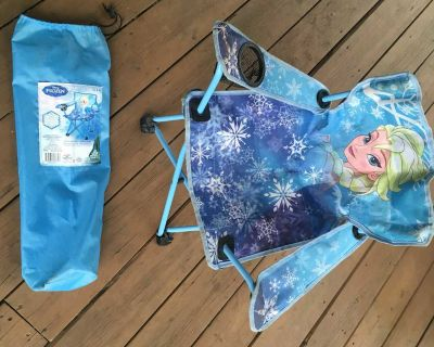 Light blue camping chair with carrying bag (1st out of 2)