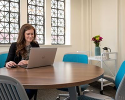 Private Meeting Room for 4 at Flywheel Coworking at the Cabarrus Center