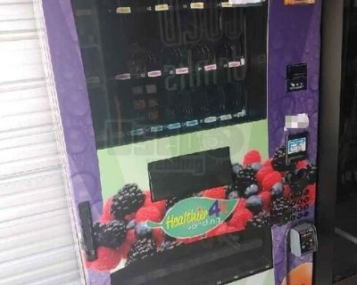 (3) Healthier 4 U Healthy USI Wittern Snack and Beverage Vending Machines