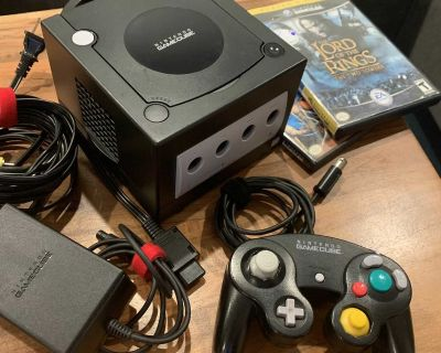 Nintendo GameCube with Controller, Cables, and Two Games