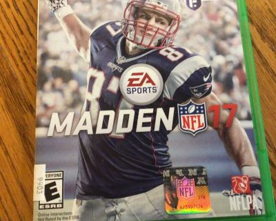 XBox One Madden 17 Game