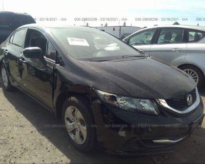 Salvage Black 2015 Honda Civic Sedan