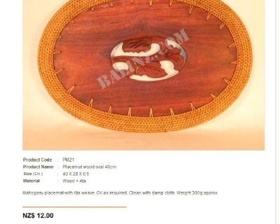 Hand-carved Bali place mats & trivets for crazy low prices