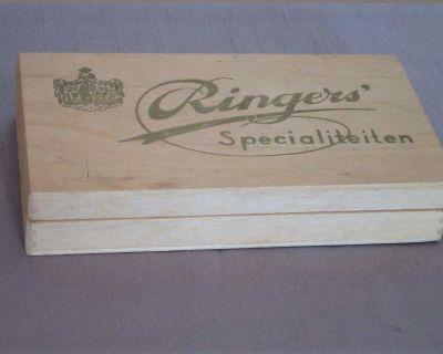 """Dutch """"Ringers Specialiteiten"""" CIGAR Wood Storage Box"""