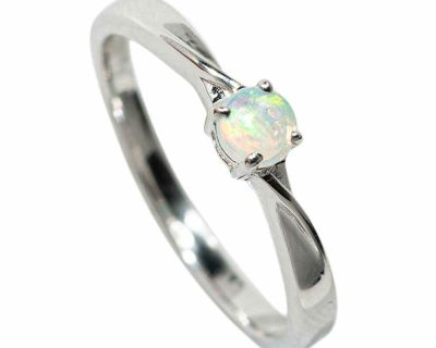 **FLASH SALE** EVERYDAY ADORNMENT STERLING SILVER SOLID AUSTRALIAN WHITE OPAL RING