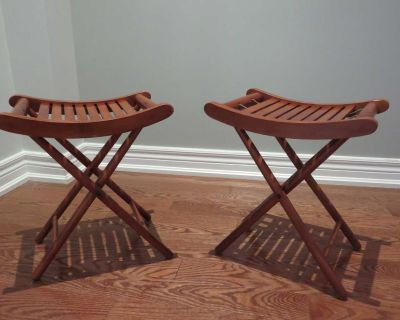1950's Vintage Wooden Camping Stool