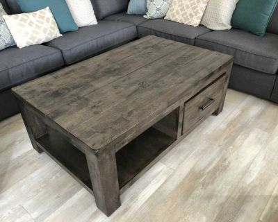 Solid wood coffee table Retails for $599 plus tax