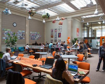 Grab a seat anywhere in our coworking Cafe