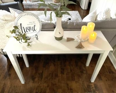 White Console Table (Items Not Included)