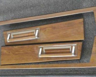 1984-85 Cadillac Eldorado Interior Door Panel Wood Grain Trim