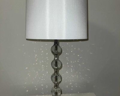 Two side table lamps