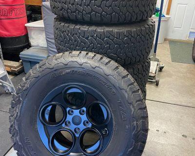 "Missouri - AEV Savegre II Wheels & 35"" BFG AT KO2 Tires (x5)"