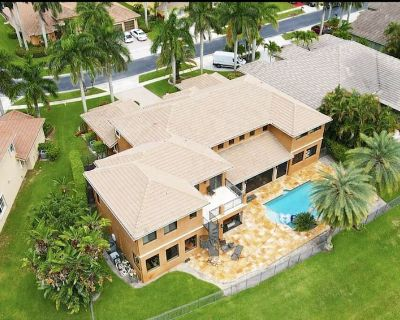Grand Villa with pool theatre billiards in Boca Raton - Deerfield Beach