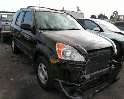 Salvage Black 2003 Honda Cr-v