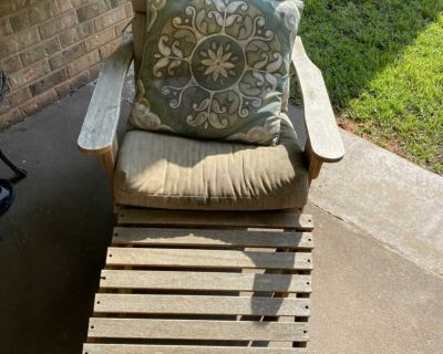 Chair with ottoman, $10.00