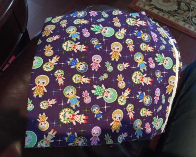 Doll patterned fabric