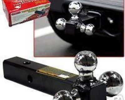 """Triple Hitch Ball Trailer Truck Camper Parts Towing 1-7/8"""" 2"""" 2-5/16 Boat Auto"""