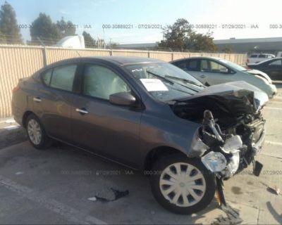 Salvage Gray 2019 Nissan Versa Sedan