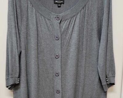 EUC I.N. Studio Lightweight Knit Cardigan; size 3x