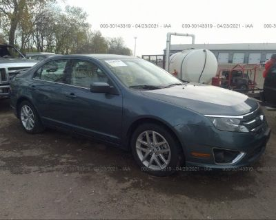 Salvage Blue 2012 Ford Fusion