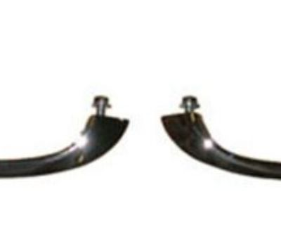 Gm Outer Door Handle Kit Chrome W/ Push Buttons Lh + Rh Camaro Nova Chevelle Gto