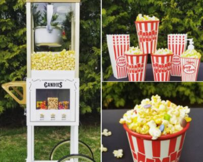 Popcorn Machine with Candy Dispenser (rental only)