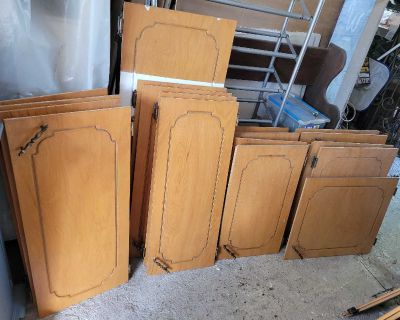 Kitchen cabinets doors solid wood $150.00 all